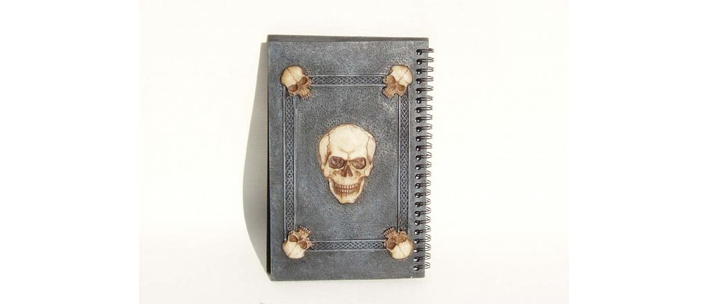 Notebook with pentagram and skull 2
