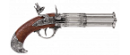 Denix Revolving 4 barrel flintlock pistol - Replica