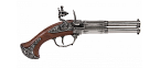 Denix Revolving 2 barrel flintlock pistol - Replica