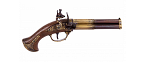 Denix Revolving 3 barrel flintlock pistol - Replica